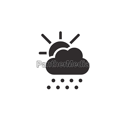 hail sun and cloud icon weather