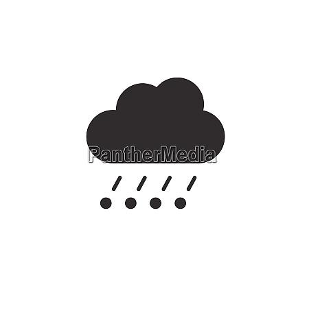 rain hail and cloud icon weather