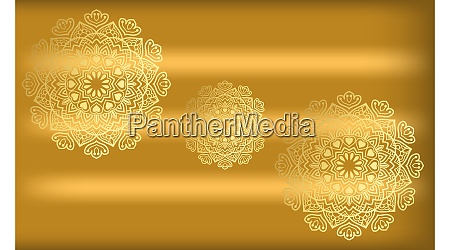 traditional art on gold background in