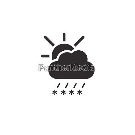 sleet cloud and sun icon weather
