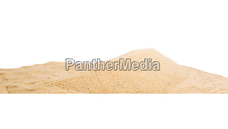 pile sand dune isolated on white