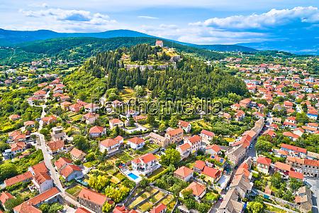town of sinj in dalmatia hinterland