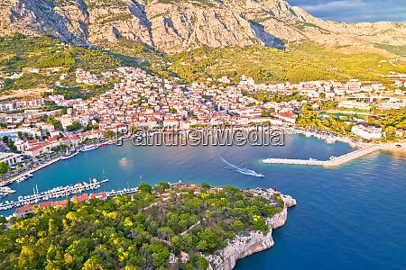 makarska tourist city of makarska aerial