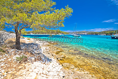 turquoise beach on pakleni otoci islands