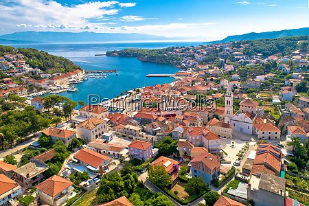 town of jelsa bay and waterfront