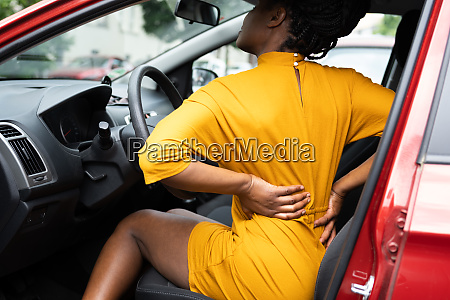 driver neck injury or backpain