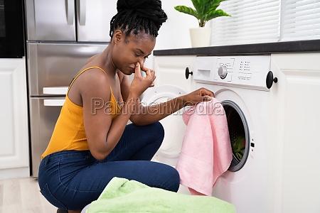 broken smelly washing machine