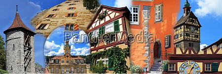 collage from the city of schwaebisch