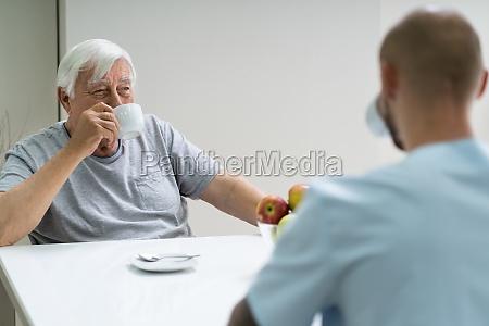 caretaker in retirement home
