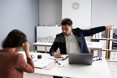 angry employer fire stressed employee people
