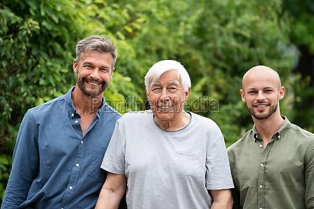 three generation men family portraits