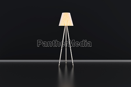 3d illustration of a lamp in