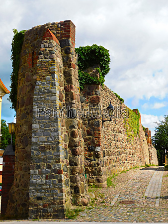 historic city wall from the 13th