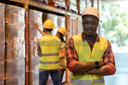 black supervisor warehouse manager