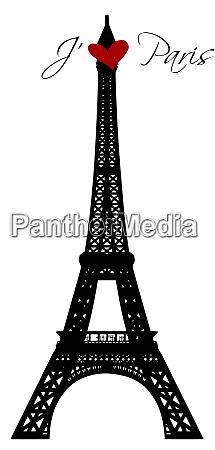 eiffel tower france paris landmark illustration