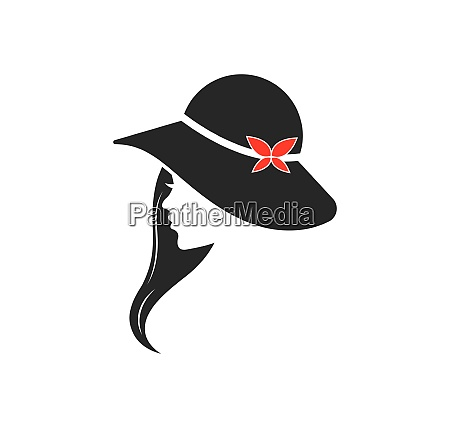 beauty woman with hat vector