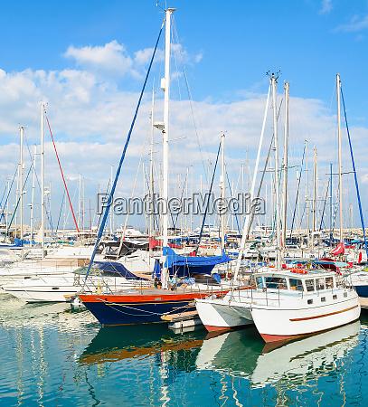 yachts motorboats marina larnaca cyprus
