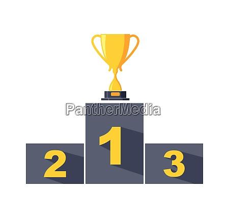 trophy vector icon winner illustration