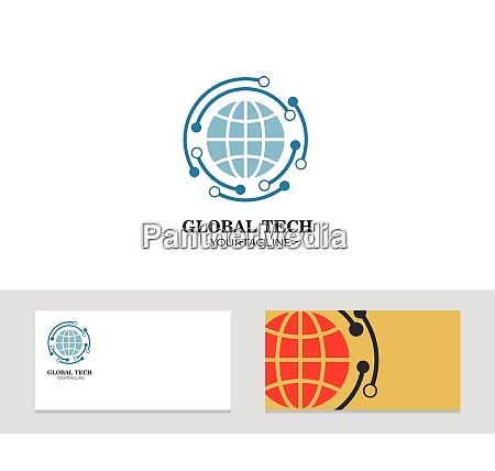 logo icon company card globe vector
