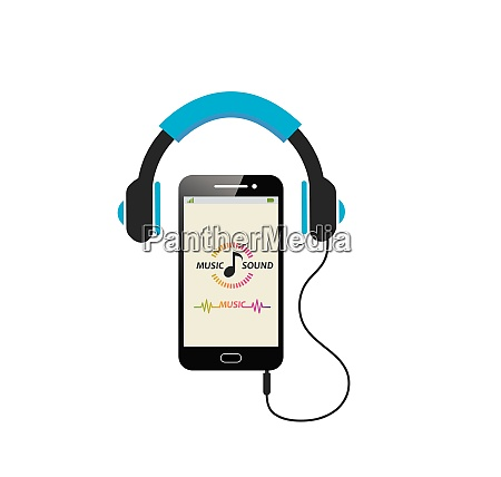 playing music in smartphone with earphone