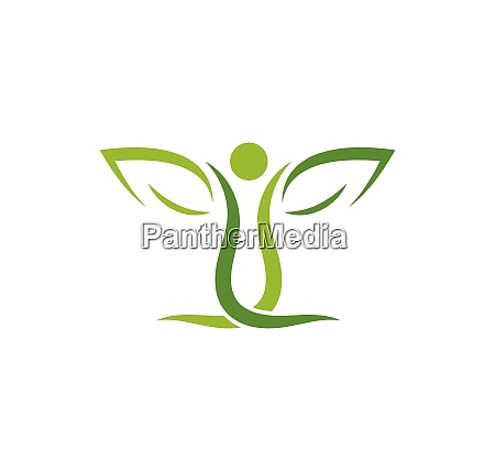healthy life people medical logo template