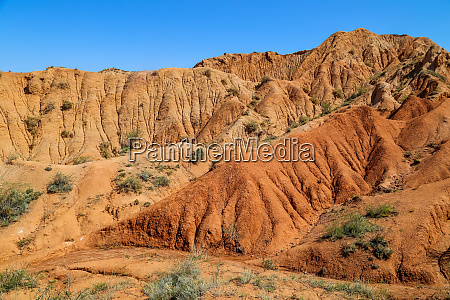 multicolor mountains in the gorge