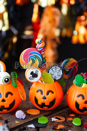 colorful halloween candy