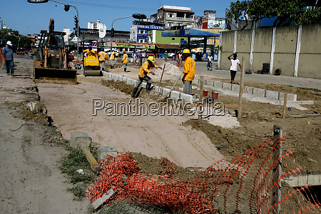 construction of sewerage channel