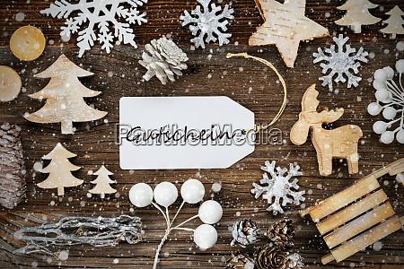 label frame of christmas decoration gutschein