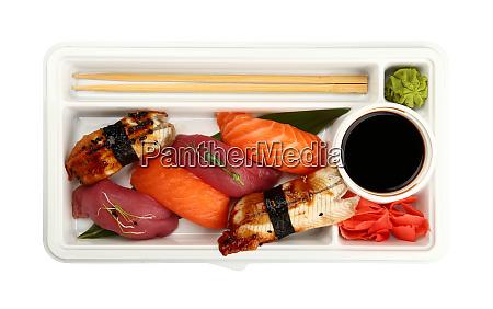 take away set of nigiri sushi