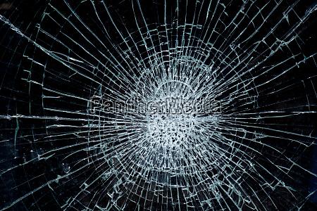 broken glass on black background broken