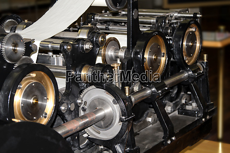 view of an old printing press