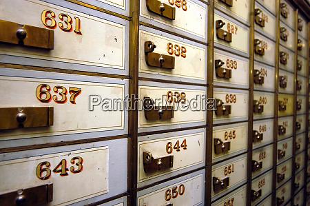 safe deposit box or safe deposit