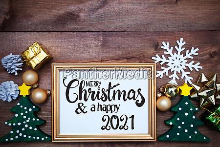 ornament frame tree ball merry christmas