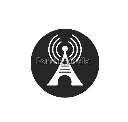 tower signal logo icon vector illustration
