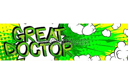 great doctor comic book style cartoon
