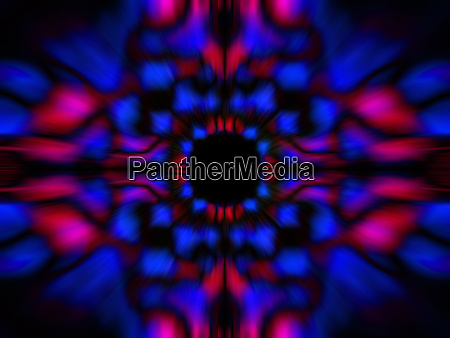 blurred kaleidoscope pattern