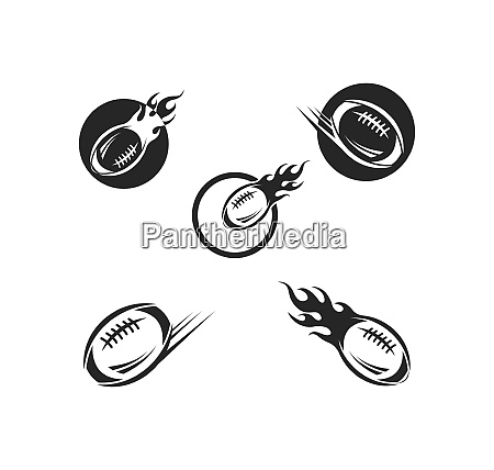 rugby ball icon vector illustration design