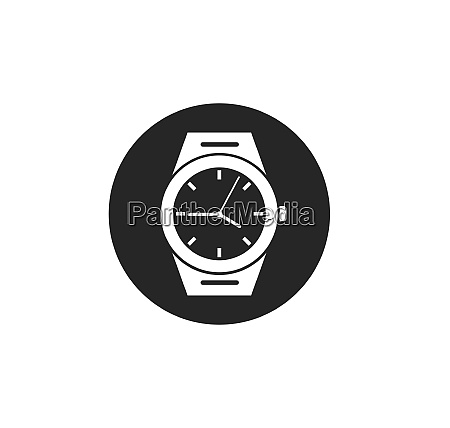 wrist watch icon vector template design