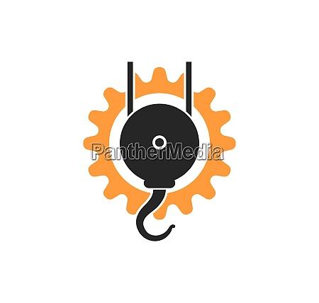 crane hook logo vector illustration