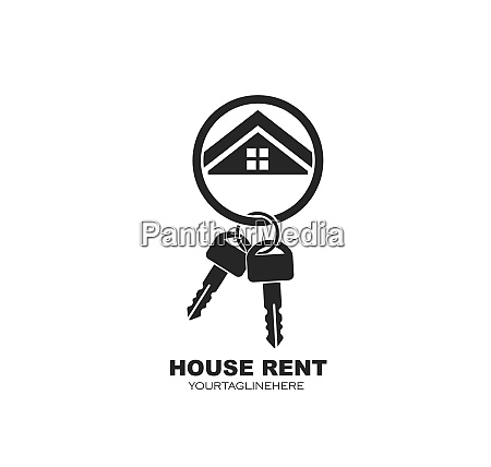 icon of house rent vector illustration
