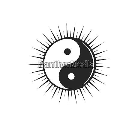 yin yang vector icon illustration design