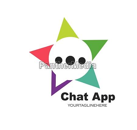 speech bubble logo icon vector