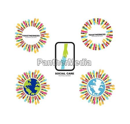 hand care vector icon illustration design