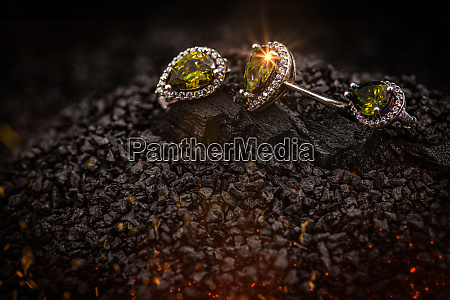 jewelry ring and earrings