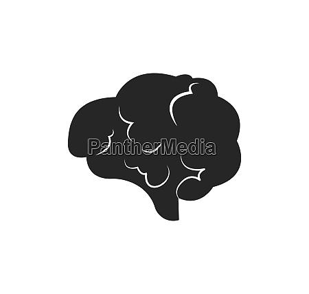 brain illustration vector icon logo of