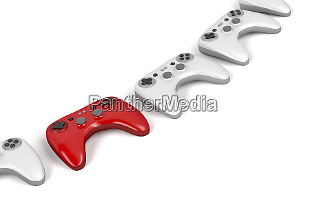 unique red game controller
