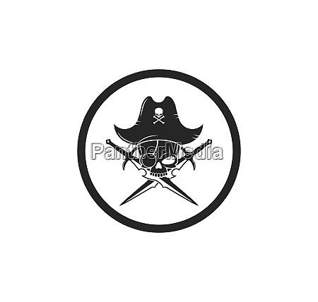 pirate vector icon illustration design