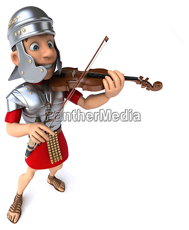 3d illustration of a roman soldier