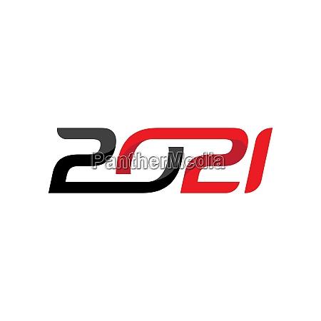 2021 new year icon vector illustration